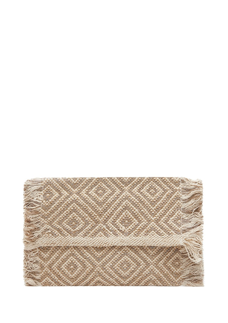 Woven Fringe Clutch - Gold main image