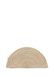 ASHIANA Half Circle Beaded Clutch - Neutral