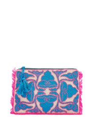 ASHIANA Beaded Patterned Clutch - Pink & Blue