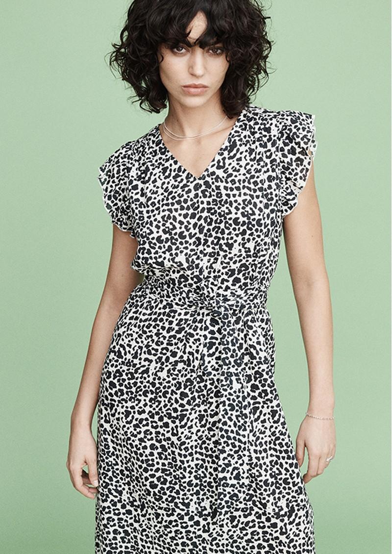 MAYLA Margot Dress - Black Leopard main image