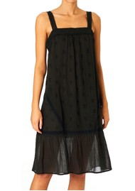 M.A.B.E Cody Cotton Embroidered Dress - Faded Black