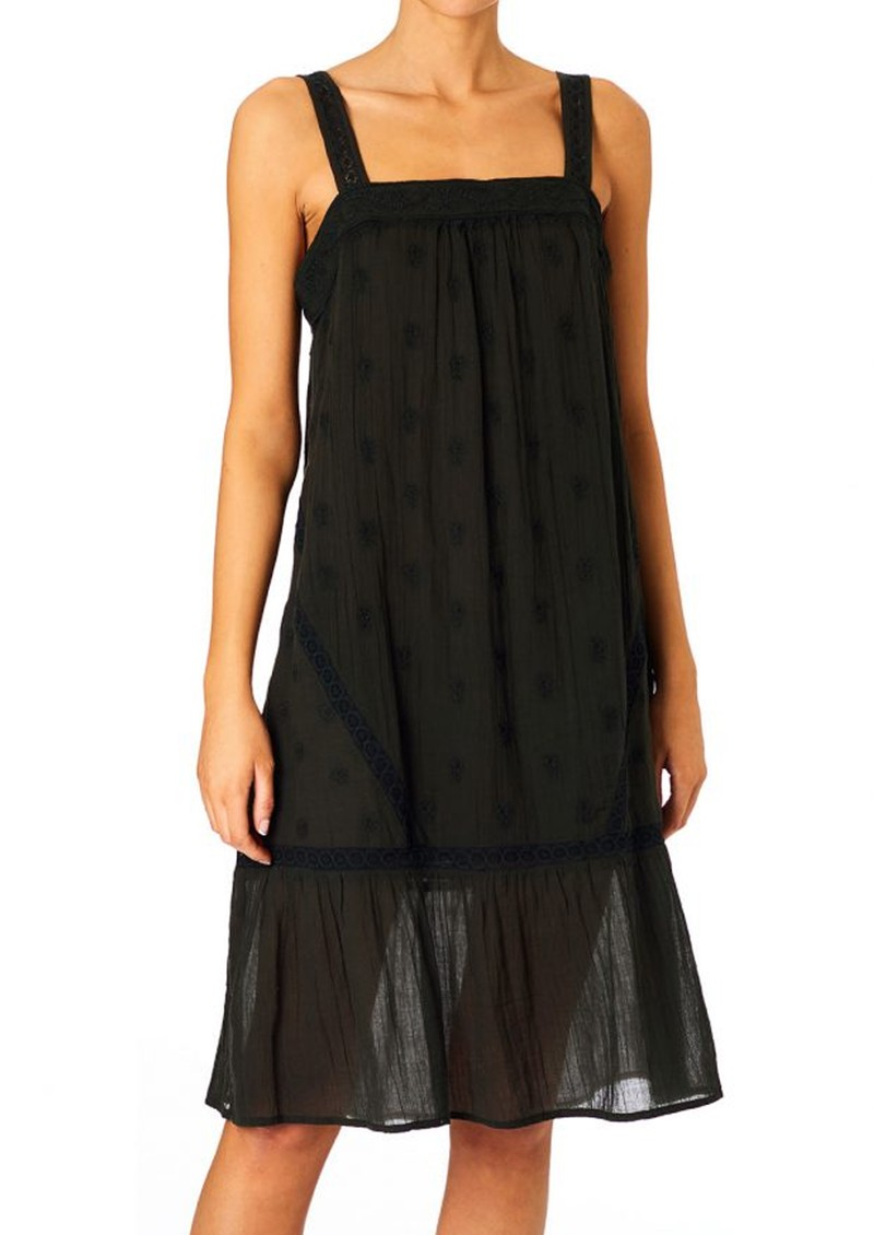 M.A.B.E Cody Cotton Embroidered Dress - Faded Black main image