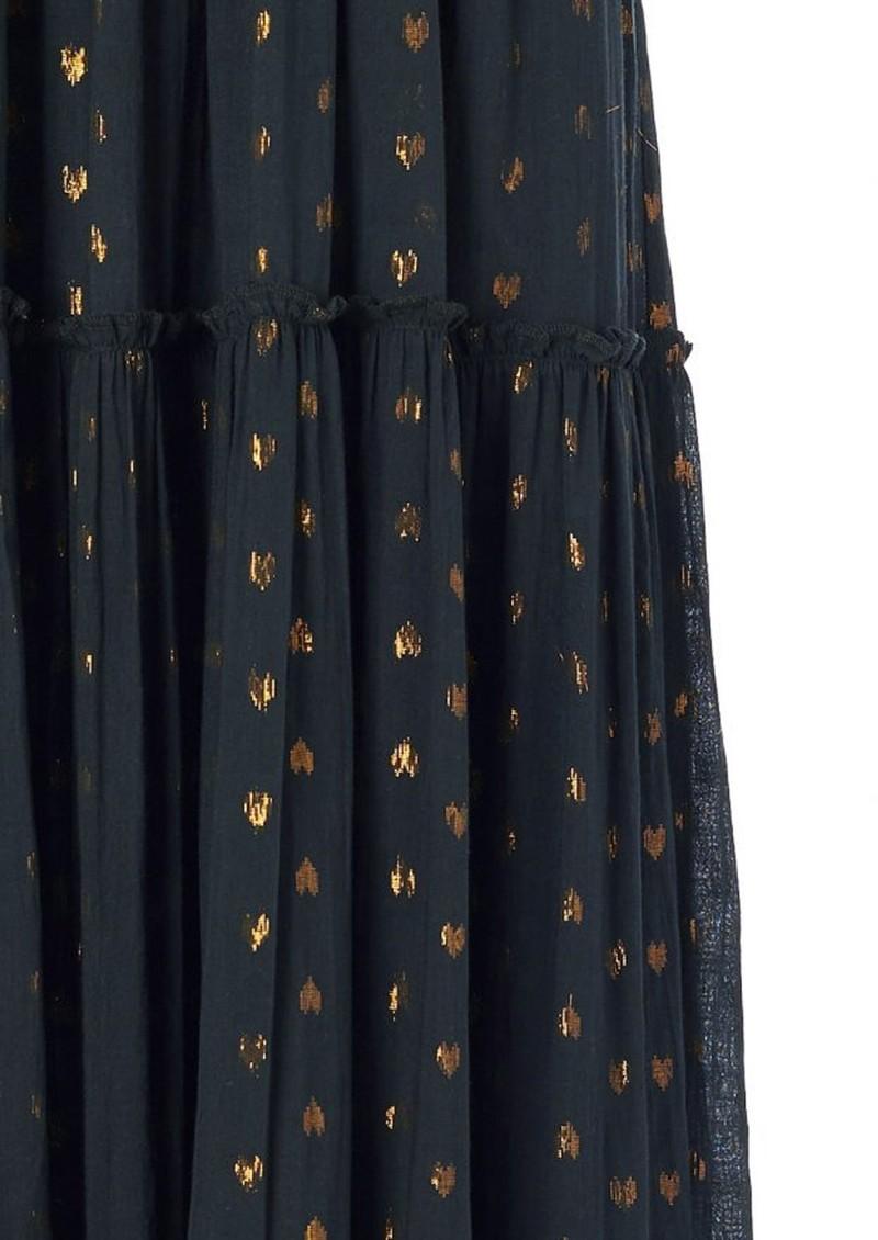 M.A.B.E Livia Frill Cotton Maxi Dress - Charcoal main image