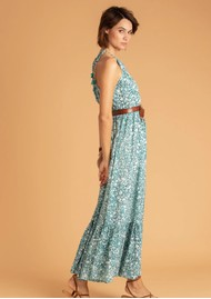 POUPETTE ST BARTH Rachel Sleeveless Maxi Dress - Aqua Aspen