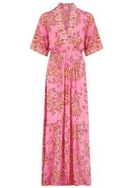 POUPETTE ST BARTH Rachel Kimono Maxi Dress - Pink Allium