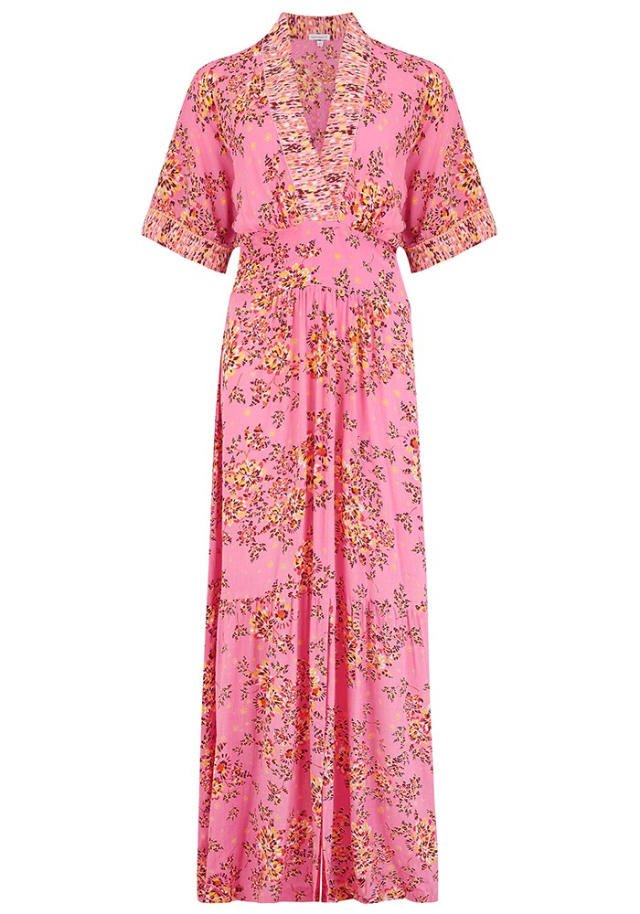 Rachel Kimono Maxi Dress - Pink Allium main image