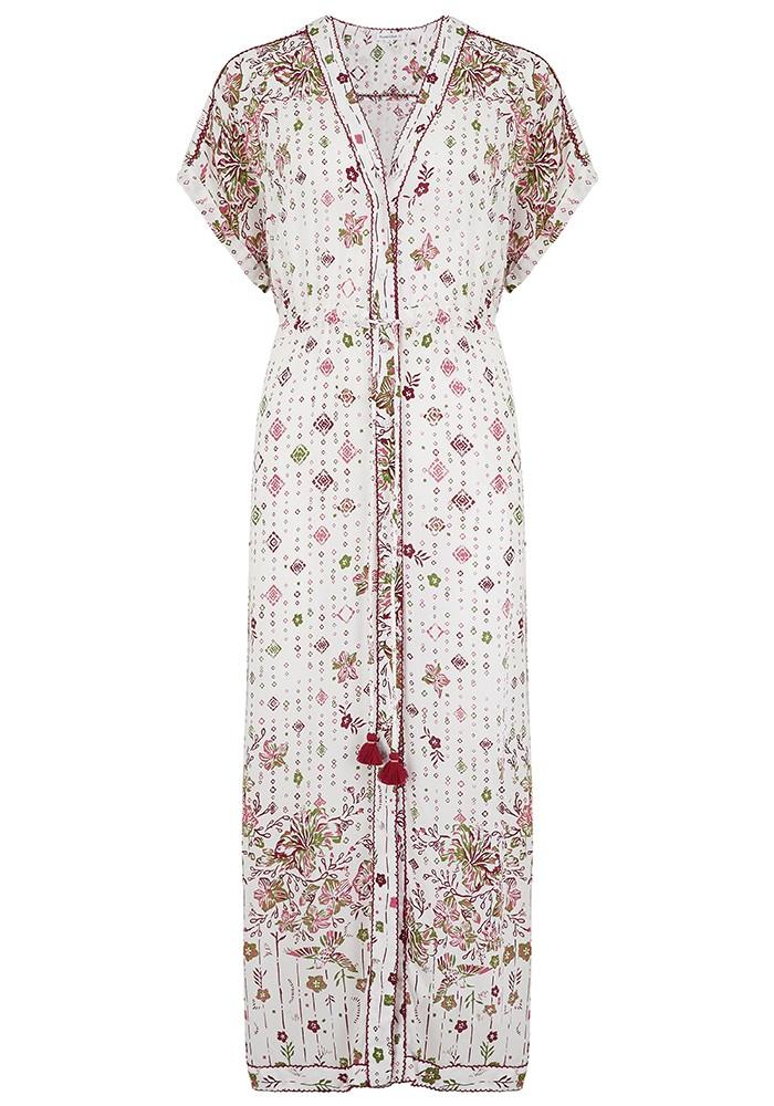 POUPETTE ST BARTH Mya Lace Trimmed Dress - White & Rombo main image