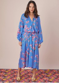 BAILEY & BUETOW Carmen Dress - Blue Floral