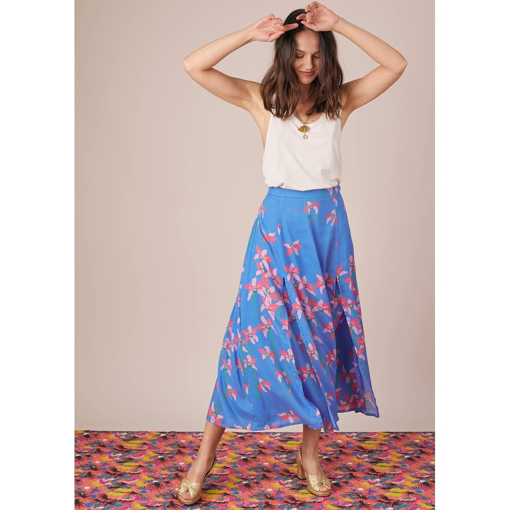 Carmen Skirt - Blue Floral
