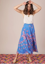 BAILEY & BUETOW Carmen Skirt - Blue Floral