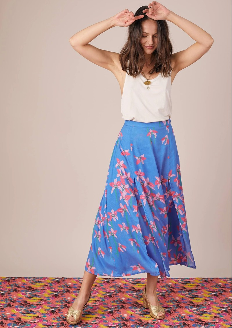 BAILEY & BUETOW Carmen Skirt - Blue Floral main image
