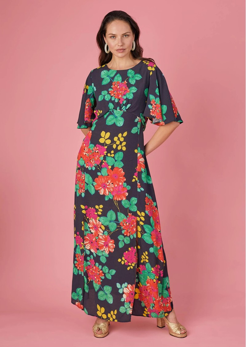 BAILEY & BUETOW Cherie Dress - Black Floral main image