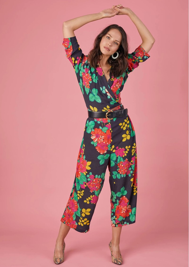 BAILEY & BUETOW Cherie Jumpsuit - Black Floral main image