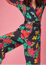 BAILEY & BUETOW Cherie Jumpsuit - Black Floral