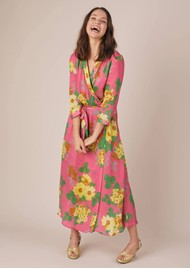 BAILEY & BUETOW Colette Wrap Dress - Pink Floral
