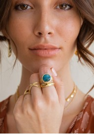 ANNA BECK Mosaic Apatite Cocktail Ring - Gold
