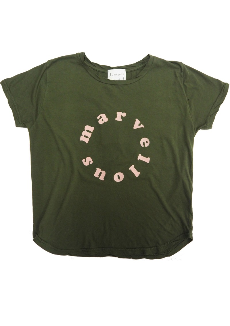 JUMPER 1234 Marvellous Cotton T-Shirt - Army & Pink main image