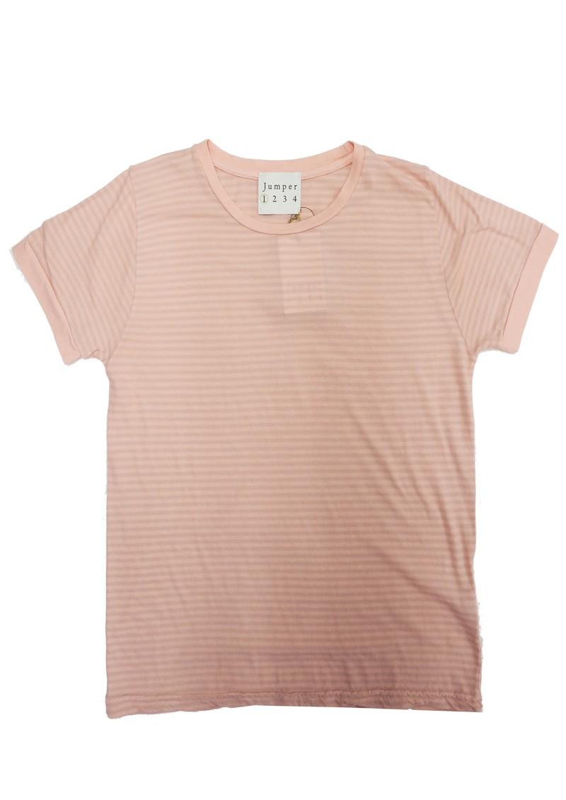 JUMPER 1234 Narrow Stripe Cotton T-shirt - Floss main image