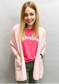 JUMPER 1234 Fabulous Cotton T-Shirt - Neon Pink & White