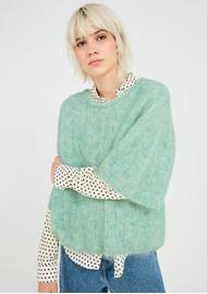American Vintage Dolsea Knitted Jumper - Green Water Melange