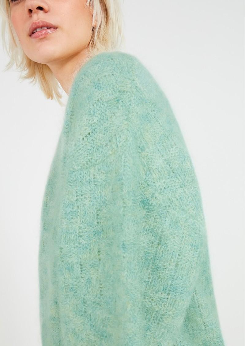 American Vintage Dolsea Knitted Jumper - Green Water Melange main image