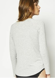 STRIPE & STARE Slouch Long Sleeve Top - Grey Marl