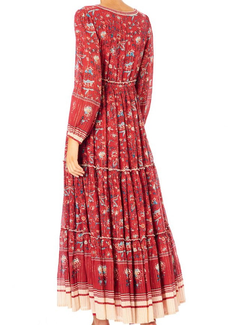 M.A.B.E Sibel Printed Maxi Dress - Red main image