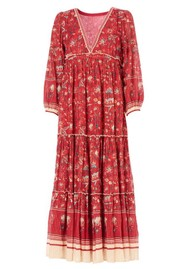 M.A.B.E Sibel Printed Maxi Dress - Red