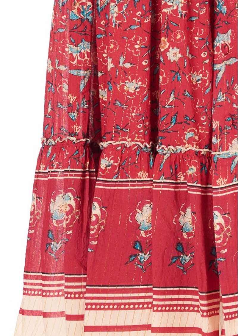 M.A.B.E Sibel Printed Maxi Skirt - Red main image
