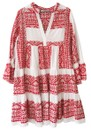 KORI Embroidered Cotton Dress - White & Red