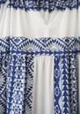 KORI Embroidered Cotton Maxi Dress - White & Blue