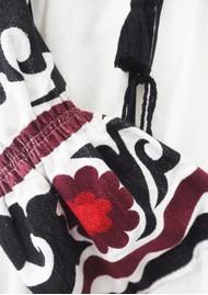 KORI Embroidered Linen Top - White