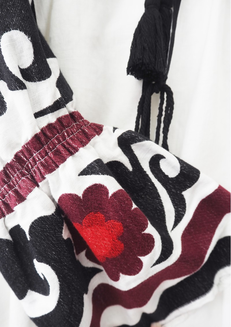 KORI Embroidered Linen Top - White main image