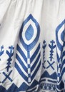 Embroidered Linen Dress - White & Blue  additional image