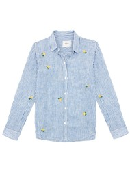 Rails Charli Embroidered Shirt - Yellow Roses