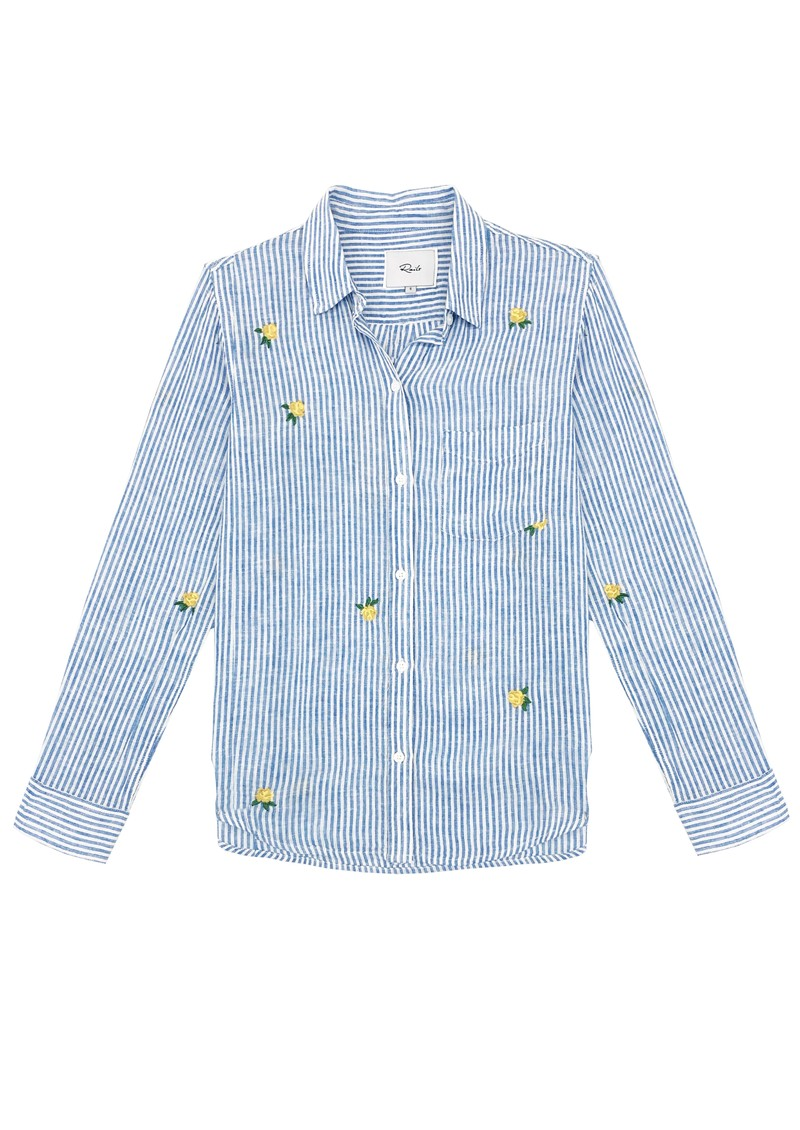 Rails Charli Embroidered Shirt - Yellow Roses main image