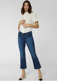J Brand Selena Mid Rise Boot Cut Cropped Jeans - Arcade