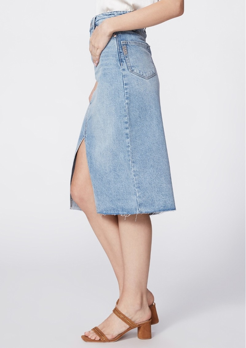Paige Denim Meadow Midi Denim Skirt - Tipton main image