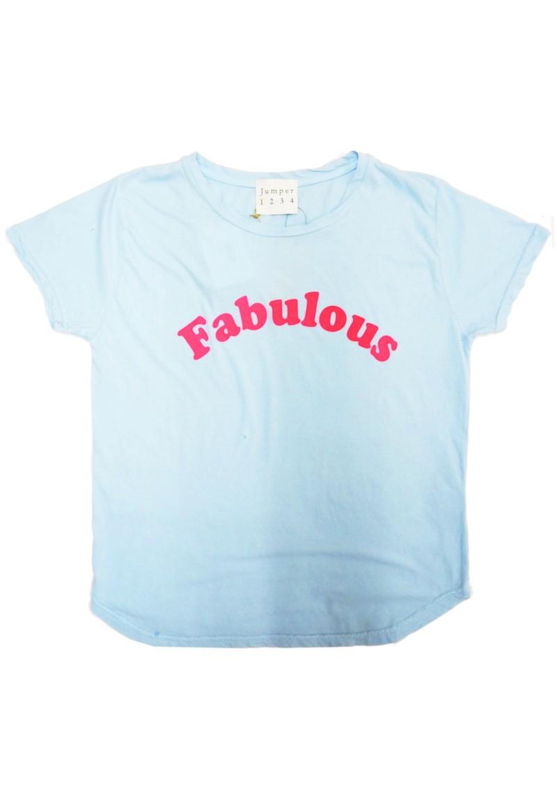 JUMPER 1234 Fabulous Cotton T-Shirt - Sky & Fuchsia main image