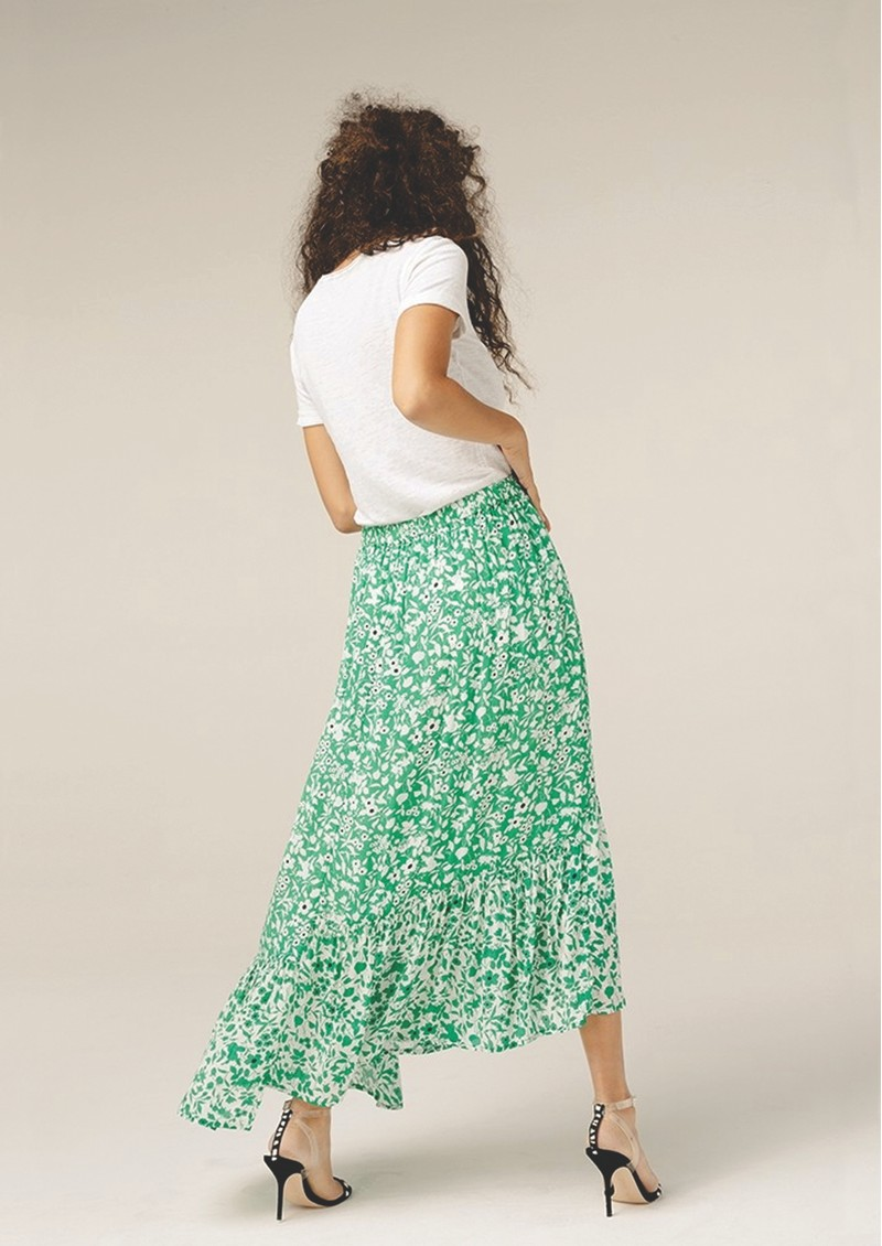 Lily and Lionel Cleo Skirt - Green Blossom main image