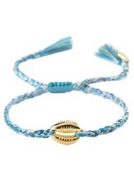 MISHKY Caracolito Shell Bracelet - Green Blue