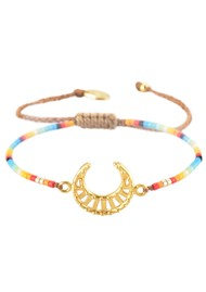 MISHKY Lunita Moon Beaded Bracelet - Multi