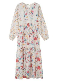 Lily and Lionel Lara Dress - Hibiscus White