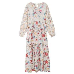 Lara Dress - Hibiscus White