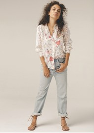 Lily and Lionel Yara Blouse - Hibiscus White