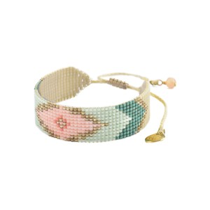 Peeky Beaded Bracelet - Pink & Mint