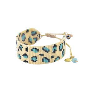Panthera Beaded Bracelet - Turquoise & Dark Blue