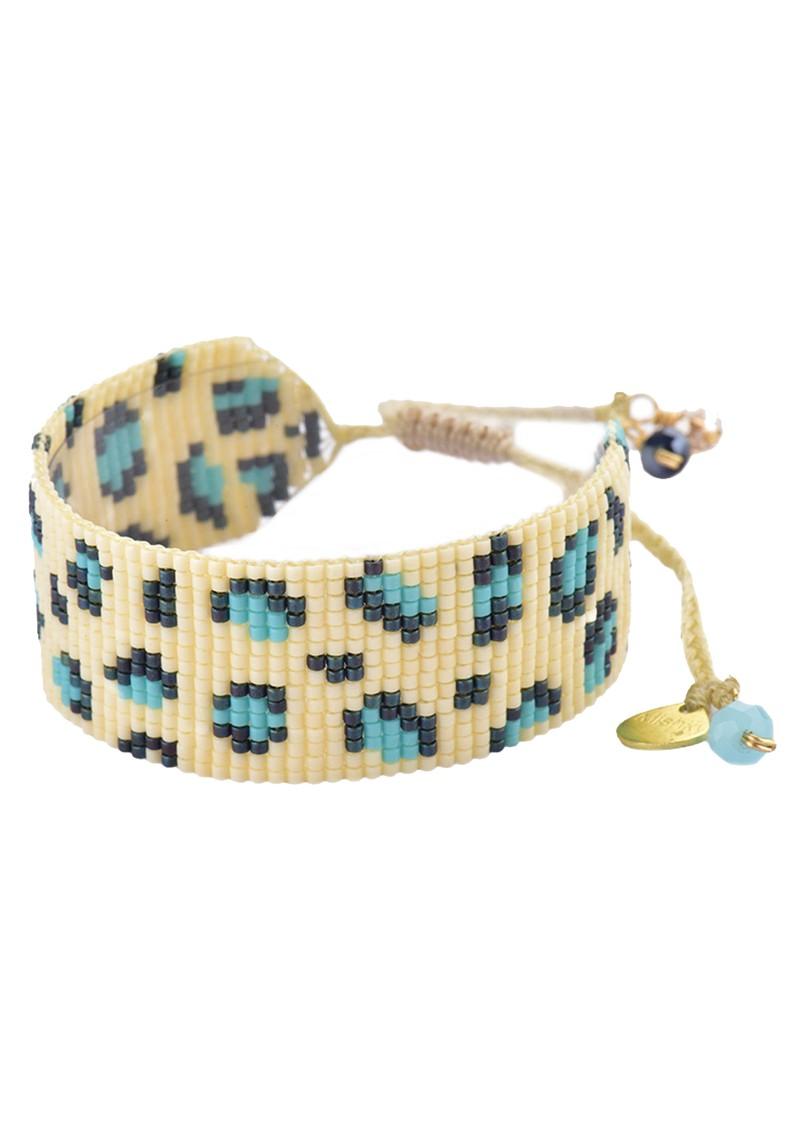 MISHKY Panthera Beaded Bracelet - Turquoise & Dark Blue main image