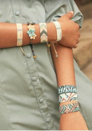 MISHKY Panthera Beaded Bracelet - Turquoise & Dark Blue