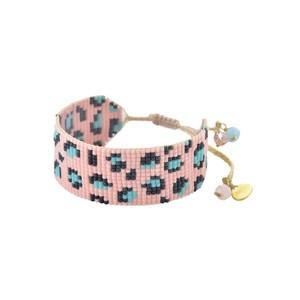 Panthera Beaded Bracelet - Pink & Turquoise